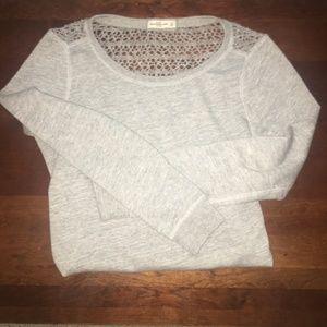 Abercrombie & Fitch Woven Sweatshirt Sweater
